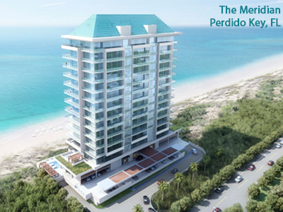 Rendering of The Meridian looking toward the Gulf of Mexico
